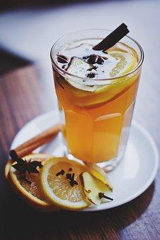 Food, Drinks, Cafe, Cinnamon, Lemon, Mulled Wine