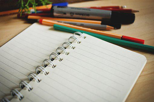 Desk, Lines, Note, Notebook, Notepad, Notes, Paper, Pen