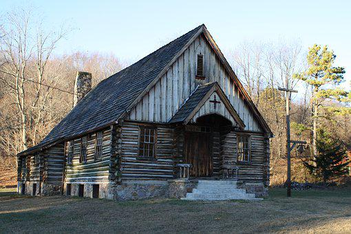 Log Church, Old Church, Religion, Church, Rustic