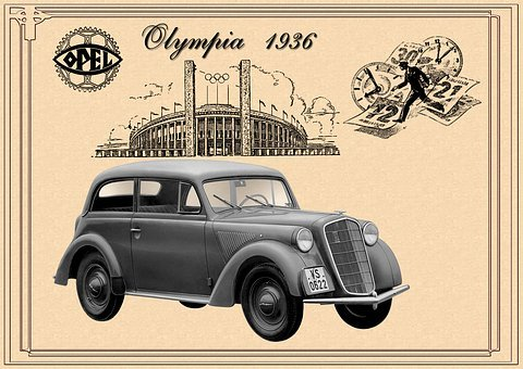 Opel, Olympia, 1935-1937, Old Original Advertising