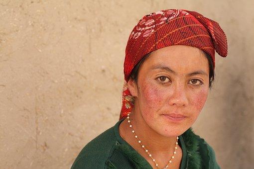Woman, Rural, Scarf, China