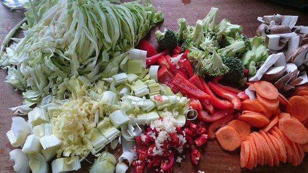 Raw Vegetables, Preparation, Stir-fry Ingredients