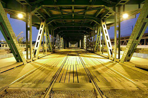 Tram Rails, Railway, The Viaduct, Bridge, Warsaw