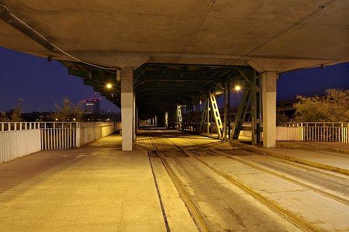 Tram Rails, Railway, The Viaduct, Bridge, Warsaw