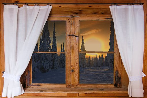 Nature, Landscape, Window, Outlook, Wooden Windows, Sun