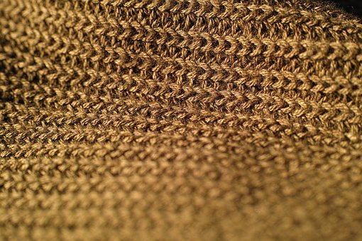 Yellow, Gold, Fabric, Textile, Abstract Pattern