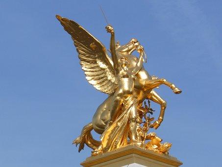 Alexandre Iii Bridge, Bridge, Paris, Statue, City