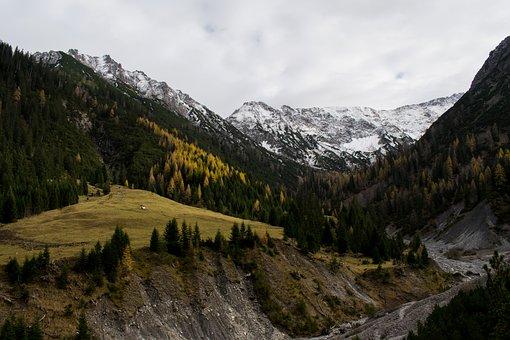 Alps, Autumn, November, Mountains, Austria