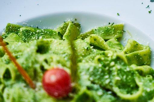 Pasta, Green, Pesto, Sauce, Background, Nutrition