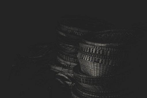 Background, Basket, Black And White, Container, Craft