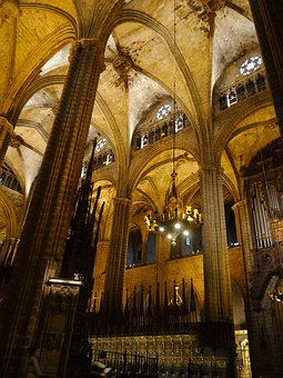 Cathedral, Pillars, Architecture, Religion, Building