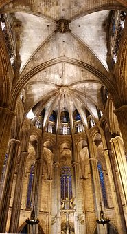 Barcelona, Architecture, Church, Cathedral, Europe