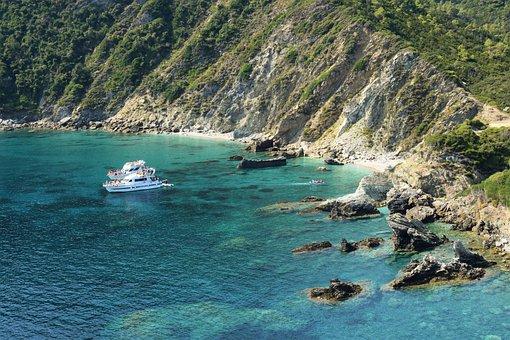 Greece, Skopelos, Kastri, Landscape, Mountains, Coast