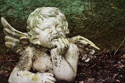 Angel, Cherub, Tombstone, Commemorate, Angel Figure