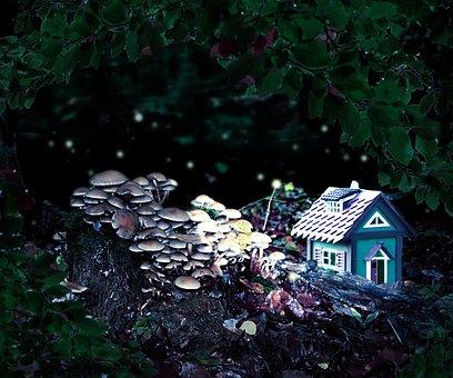 Forest Spirits, Cottage, Fantasy, Fairytale Hour