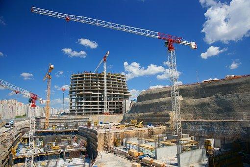 Construction, Building, Crane, Workers, Design, High