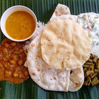 Food, Naan, Curry, Asian, Indian, Restaurant, Dinner