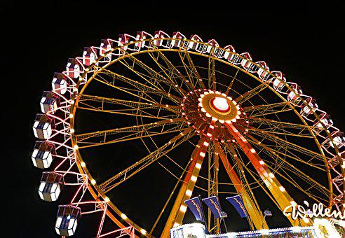 Ferris Wheel, Dom, Folk Festival, Carnies, Fair