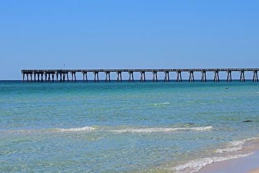 Pier, Fishing, Activity, Sport, Nature, Sand, Beach