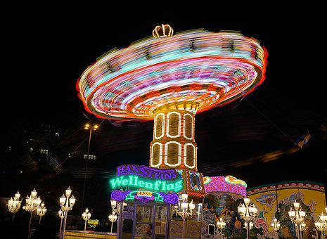 Carousel, Long Exposure, Dom, Folk Festival