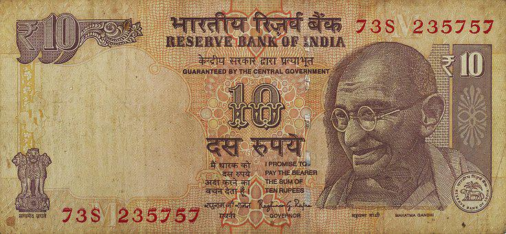 Rupee, Bank Note, Banknote, Currency, Forex