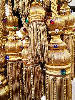 Hand Job, Strings, Gold, Pendants, Tradition, Ancient