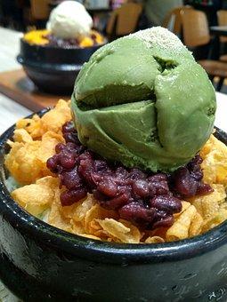 Ice, Matcha, Korean Dessert, Fresh