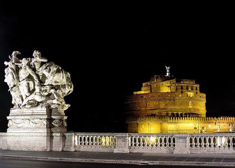 Rome, Lazio, Italy, Night, Cityscape, History