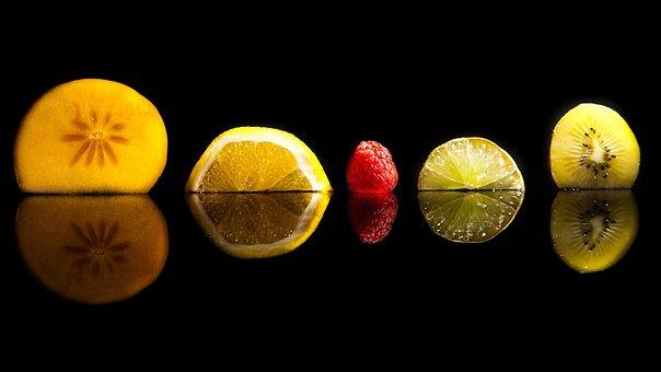 Fruit, Black, Mirroring, Berry, Fruits, Vitamins