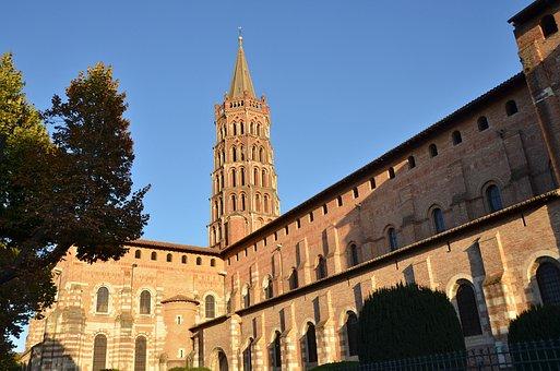 Toulouse, Basilica Of St Sernin, Monument, Brick