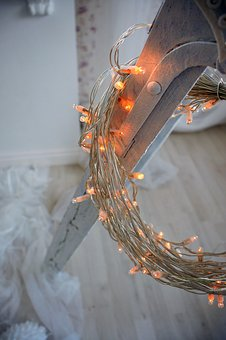 Christmas, Design, Mood, Light, Fényfűzér, Lights