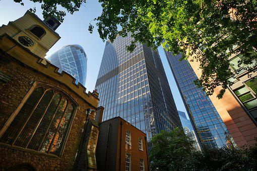 London, Facades, Old And New, United Kingdom, Uk