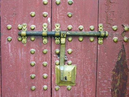 Door, Lock, Wood, Old, Old Door