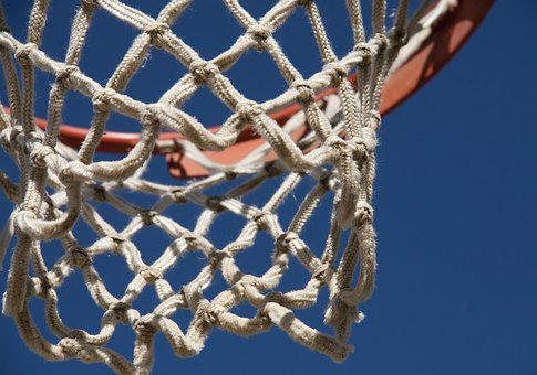 Basketball, Hoop, Net, No Filter, Game, Rope, Orange