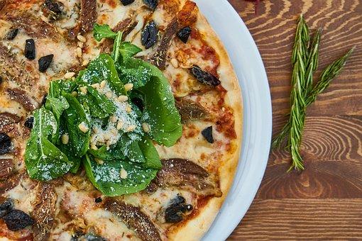 Pizza, Dough, Italian, Italy, Detail, Slice, Food