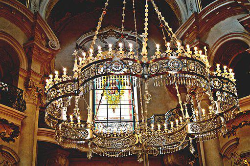 Church, The Cathedral, Architecture, Style, Chandelier