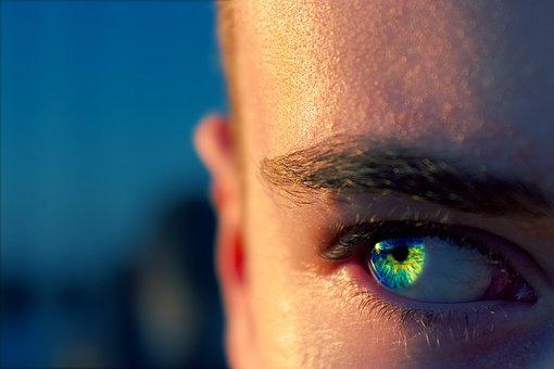 Eye, Blue, Macro, Sun, Yellow, Human, Person, Close