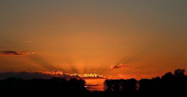 Nature, Sunset, Evening, Colorful Sunset, Sun