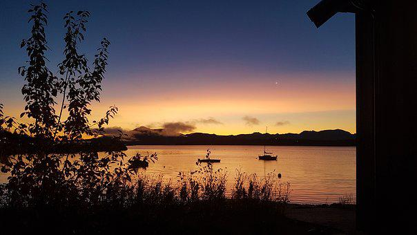 Autumn, Molde, Norway, Sunrise, Sky, The Nature Of The