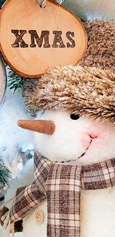 Snow Man, Xmas, Christmas, Christmas Greetings, Scarf