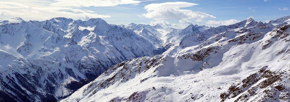 Sölden, Austria, Skiing, Mountains, Alps, Nature