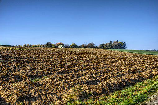 Field, Arable, Agriculture, Nature, Fields, Autumn, Sky