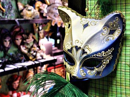 Mask, Masquerade, Carnival, Cat, Venice, Fest