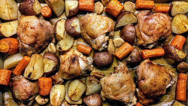 Food, Chicken, Kitchen, Cooking, Carrots, Potatoes