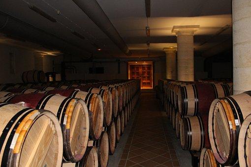 Wine, Chai, Wine Shop, Cave, Castle, Winery, Barrels