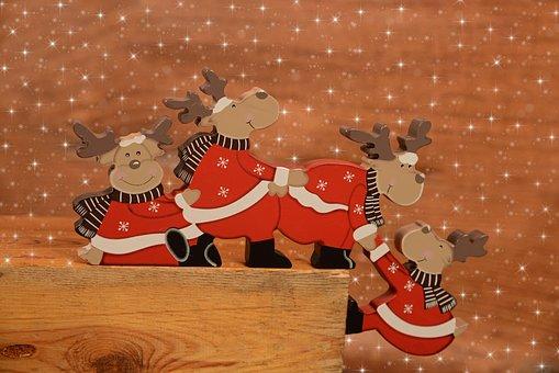 Deer, Holidays, Christmas Decoration, Red
