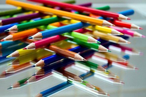 Colored Pencils, Paint, School, Colour Pencils, Pens