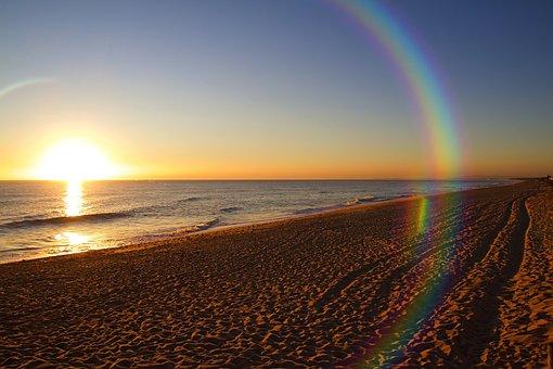 Faro, Algarve, Portugal, Mood, Sky, Empty Beach