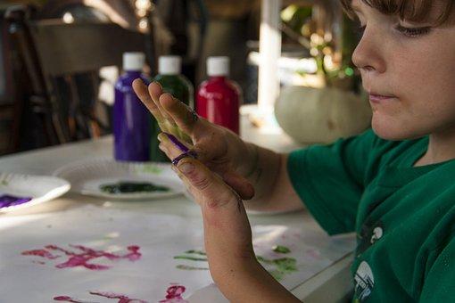 Painting, Finger Paints, Intent, Colors, Messy