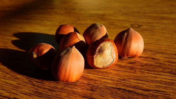 Hazelnuts, Nuts, Hazel, A Pile Of Nuts